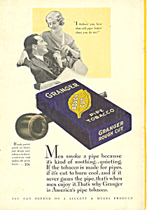 Granger Rough Cut Tobacco Ad 1932 (Image1)