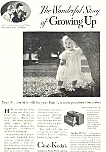 Cine Kodak Model K Camera Ad 1932 (Image1)