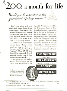 Equitable Life Assurance Society Ad 1932 (Image1)