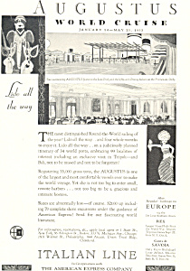Italian Line World Cruise on Augustus  Ad 1932 (Image1)