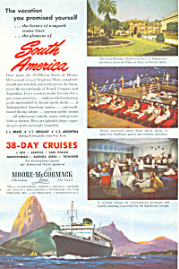 Moore McCormack  South American Cruises Ad ad0586 (Image1)
