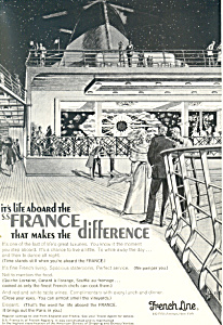 French Line Life Aboard the SS France Ad ad0587 (Image1)