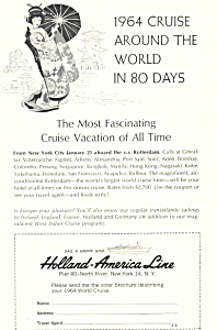 Holland American Line Around the World Ad 1964 (Image1)