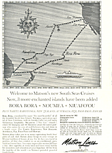 Matson Lines South Seas Cruises Ad ad0596 (Image1)