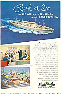 Delta Line to Brazil  Argentina Cruises Ad ad0599 (Image1)