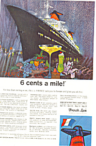 French Line Sailing to Europe Ad ad0600 (Image1)