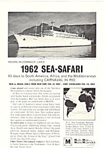 Moore Mccormick Lines Sea Safari Ad 1962 (Image1)