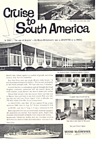 Moore Mccormick Lines Cruise South America Ad ad0606 (Image1)