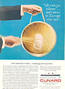 Your Cunard Ticket to Europe Ad ad0614 (Image1)