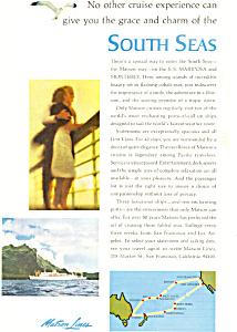 Matson Lines South Seas Ad ad0615 (Image1)