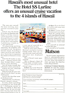 Matson Cruise to Hawaii Ad ad0622 (Image1)