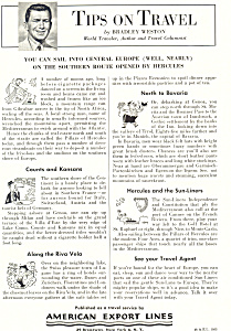 American Export Lines Tips on Travel Ad ad0629 (Image1)