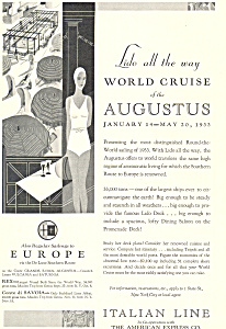 Italian Lines Augustus World Cruise Ad ad0633 (Image1)