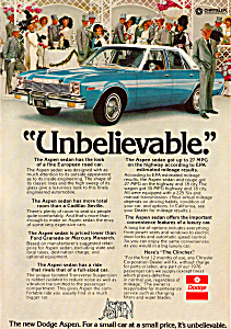 Dodge Ad For the Aspen Sedan (Image1)