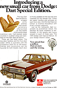 1974 Dodge Dart Special Edition Ad Ad0642