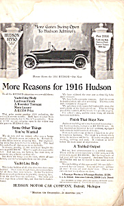 More Reasons For The 1916 Hudson Ad0681