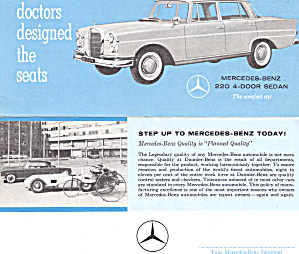 Mercedes Benz 220 4 Door Sedan Advertisment Ad0797