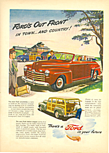 1946 Ford Convertible And Woodie Wagon Ad