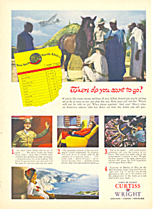 Curtiss Wright Post Wwii Ad 1945