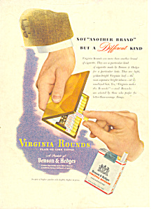 Virginia Rounds Benson & Hedges  Ad 1946 (Image1)