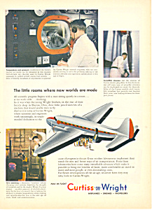 Curtiss Wright Aircraft  Ad 1945 (Image1)
