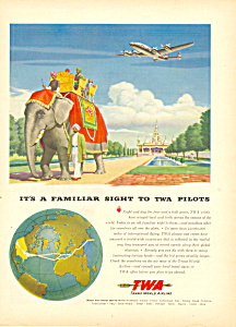 Twa Trans World Airlines Ad 1946