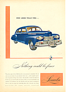 Lincoln Automobile  Ad 1946 (Image1)