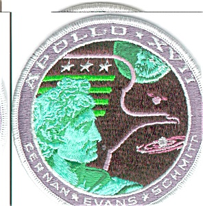 Apollo 17 Mission NASA Space Patch (Image1)