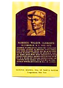 Roberto Clemente Hall Of Fame Postcard Apr0363
