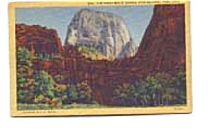 Great White Throne Zion National Park Postcard apr0565 (Image1)
