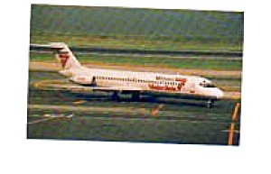 Midway DC-9 Airline Postcard apr0955 (Image1)