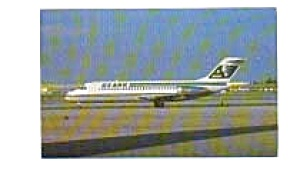 Ozark DC-9 Airline Postcard apr0956 (Image1)