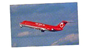 New York Air DC-9 Airline Postcard apr0963 (Image1)