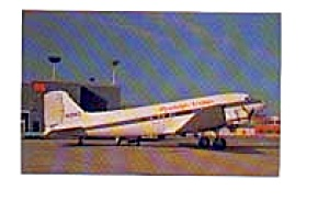 Hawkeye Airlines DC-3 Airline Postcard apr1054 (Image1)
