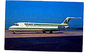 Ozark DC-9 Airline Postcard apr2253 (Image1)