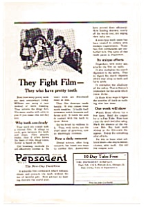 Pepsodent Dentifrice AD auc012309 1923 (Image1)