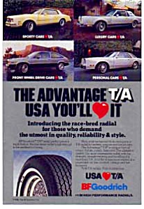 BF Goodrich T/A Tires Ad 1980 (Image1)