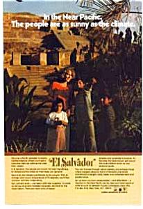 El Salvador Mayan Temple Ad 1970s (Image1)