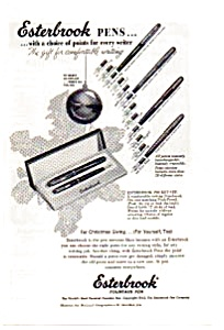 Esterbrook Fountain Pen Ad 1953 (Image1)