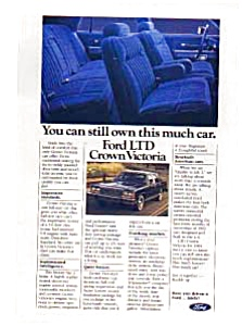 Ford Ltd Crown Victoria Ad