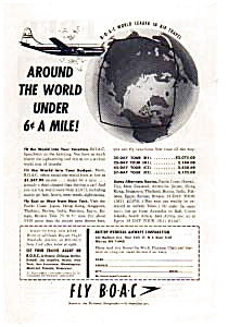 Boac Around The World Ad Auc018422 1940s