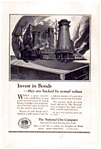 National City Bonds Offerings Ad 1923 (Image1)