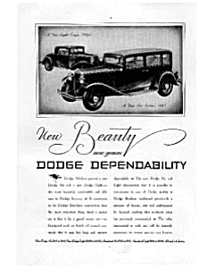 Dodge Coupe and Sedan Ad Feb 1931 (Image1)