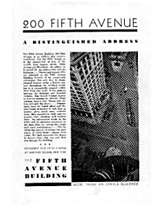 200 Fifth Avenue Building Ad Feb 1931 Auc023108 (Image1)