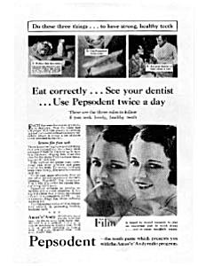 Pepsodent Toothpaste Ad Auc023115 Feb 1931 (Image1)