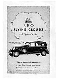 Reo Flying Clouds Automobile Ad