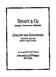 Tiffany and Company Ad Auc023117 Feb 1931 (Image1)