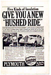 1937 Plymouth Ad