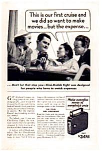 Kodak Cine-Kodak Eight Ad 1937 (Image1)