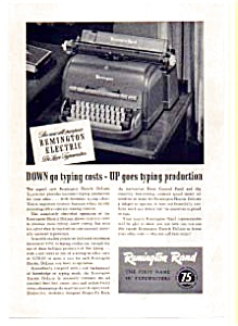Remington DeLuxe Electric Typewriter Ad 1940s (Image1)